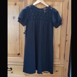 Ali Ro dress w/puff sleeve,polka dots, & pockets